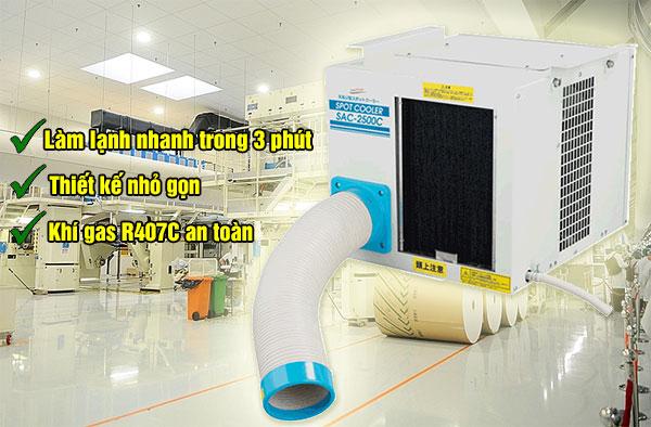 máy lạnh di động sac 2500